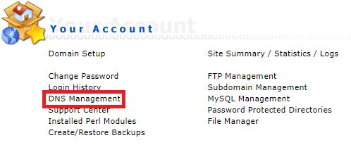 DNS A-Records aanpassen