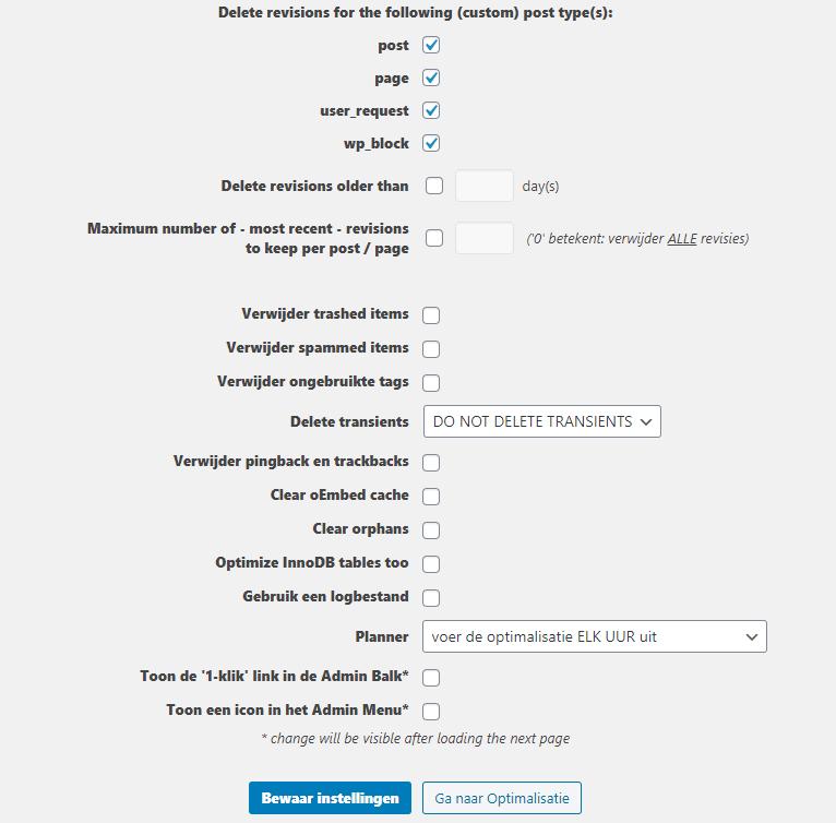 Database optimaliseren