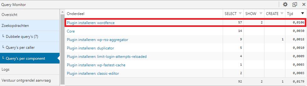 WordFence Query
