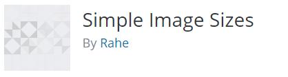 Simple Image Sizes plugin