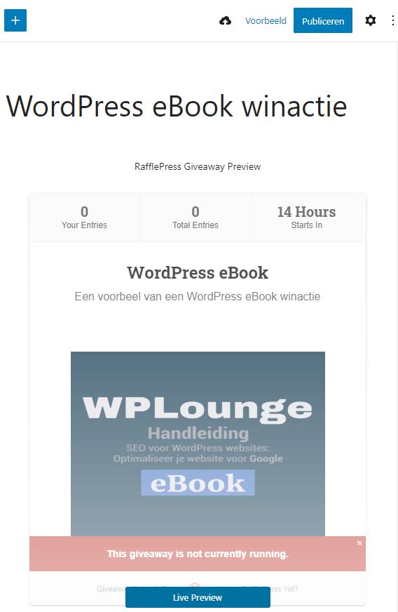 RafflePress Gutenberg