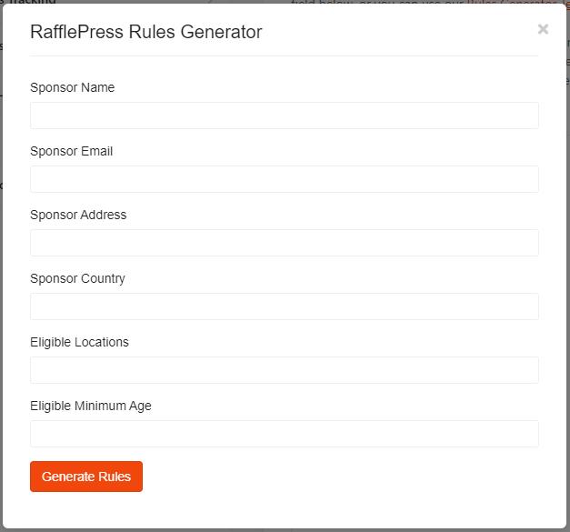 RafflePress voorwaarden