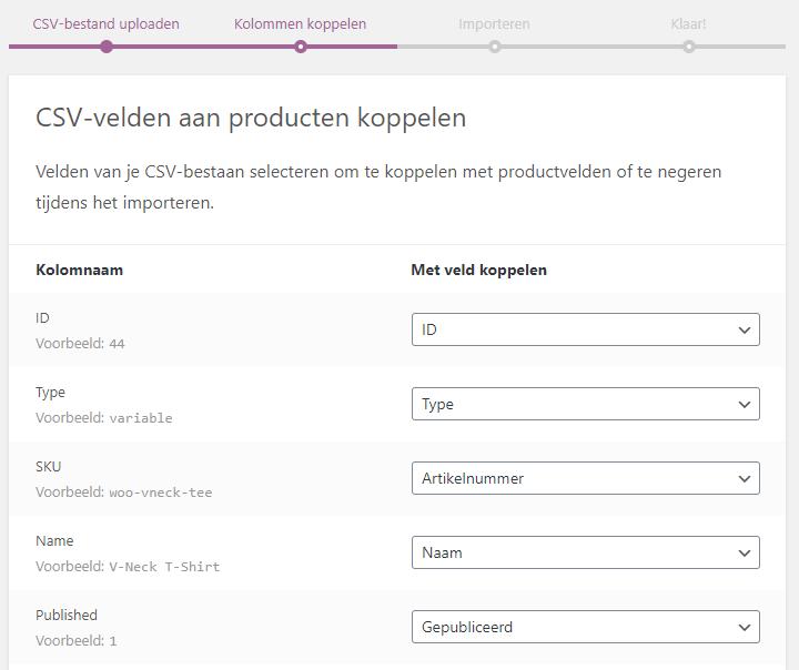 WooCommerce producten importeren