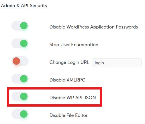 Disable WP API JSON
