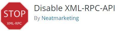Disable XML-RPC API plugin