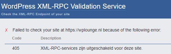 XML-RPC valideren