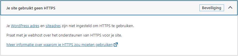 HTTPS WordPress geen ondersteuning