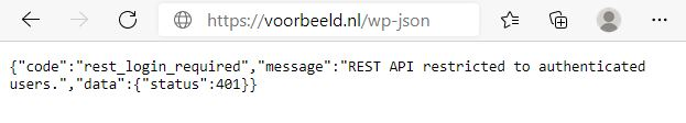 REST API disabled