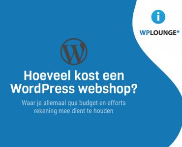 Wat kost een WordPress webshop