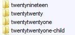 TwentyTwentyOne child folder