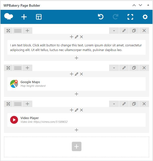 WPBakery builder overview
