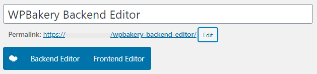 WPBakery editor