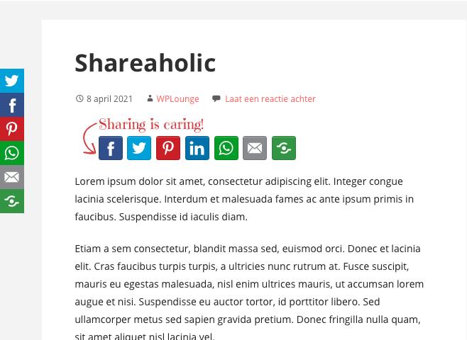Shareaholic plugin