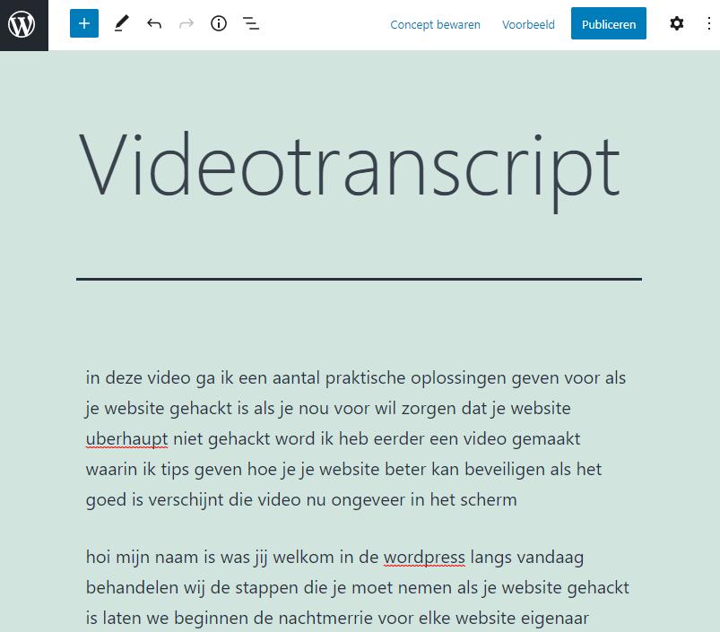 Videotranscript