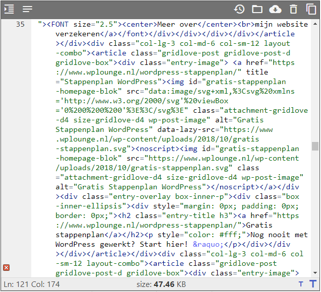 Online source code viewer