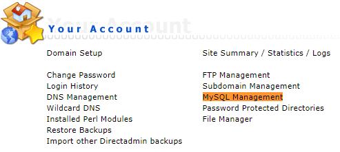 Start MySQL Management