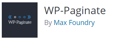 WP Paginate plugin